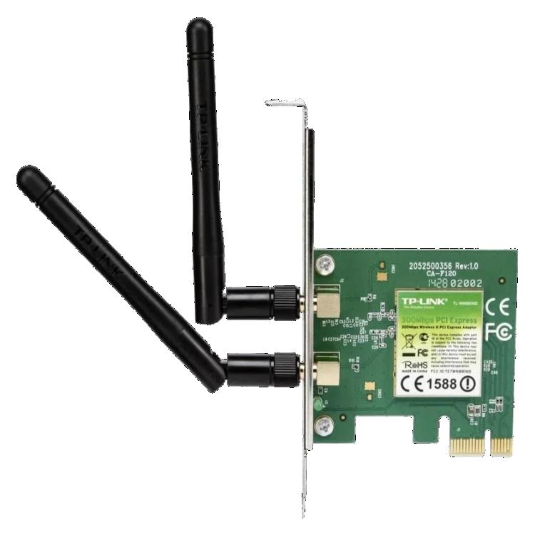 Adaptador Wireless TP-Link PCI Express Banda Dupla N300 300Mbps - TL-WN881ND