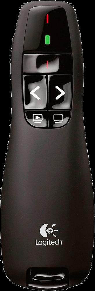 Apresentador sem fio Logitech R400 com Laser Pointer Vermelho, Conexão por USB e Pilha Inclusa - 910-001354