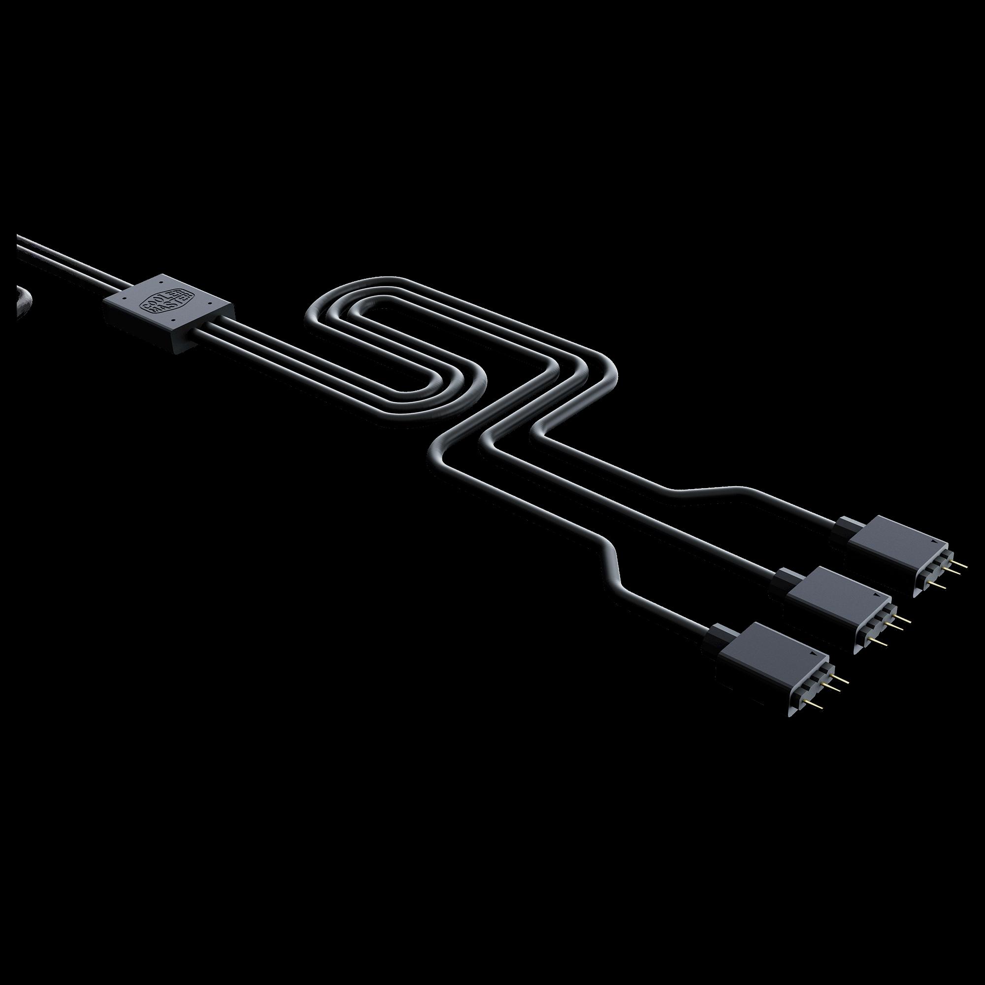 Cabo Divisor Endereçável Cooler Master 1 para 3 Fans - MFX-AWHN-3NNN1-R1