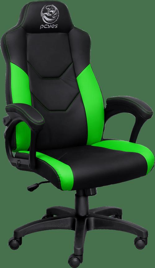Cadeira Gamer PCYes Mad Racer V6 Turbo, Verde e Preta - GMADV6TVD