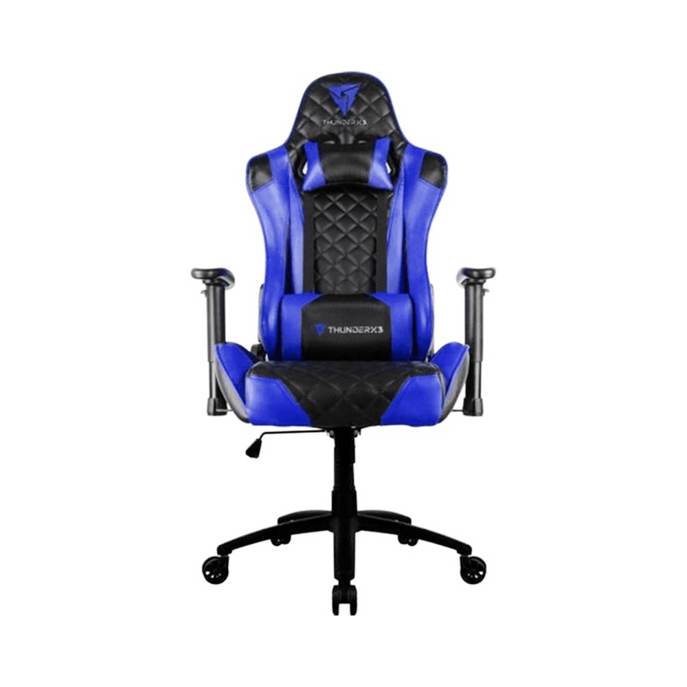 Cadeira Gamer TGC12 Preta/Azul THUNDERX3