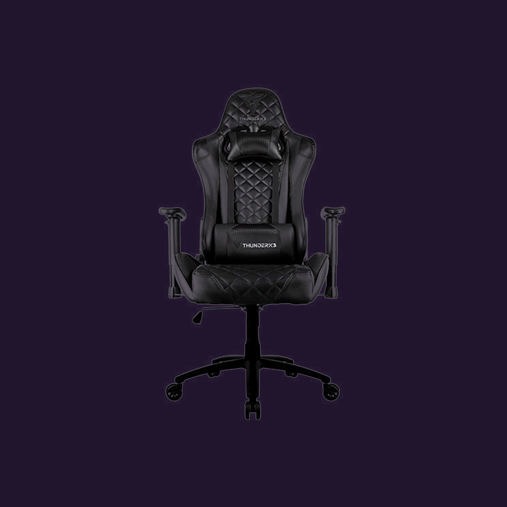 Cadeira Gamer TGC12 Preta THUNDERX3