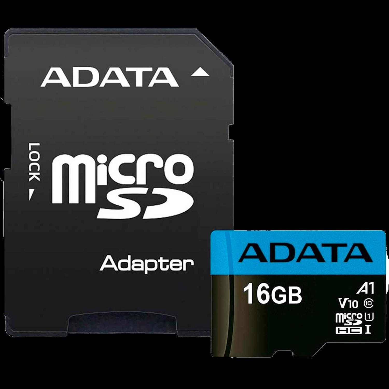 Cartão de Memória Adata MicroSDHC 16 GB Classe 10 com Adaptador - AUSDH16GUICL10
