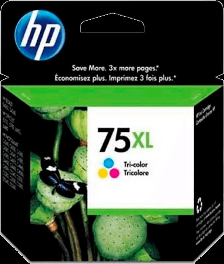 Cartucho De Tinta Colorido De Alto Rendimento Hp 75xl Original (cb338wb)