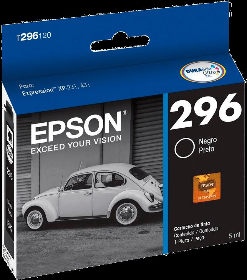 Cartucho de Tinta Epson 296 Preto - T296120