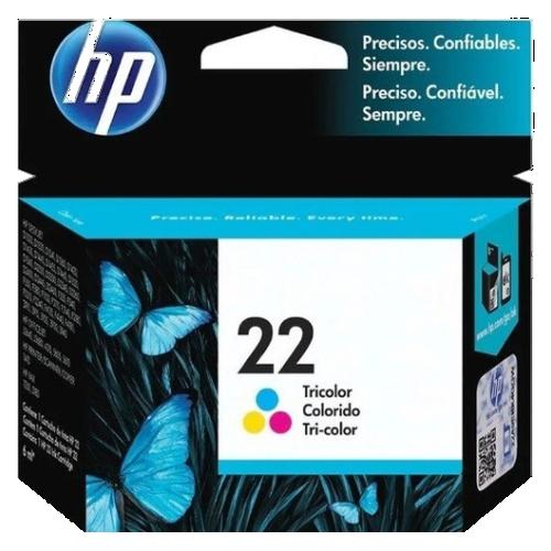 Cartucho de Tinta HP 22 Tricolor - C9352AB