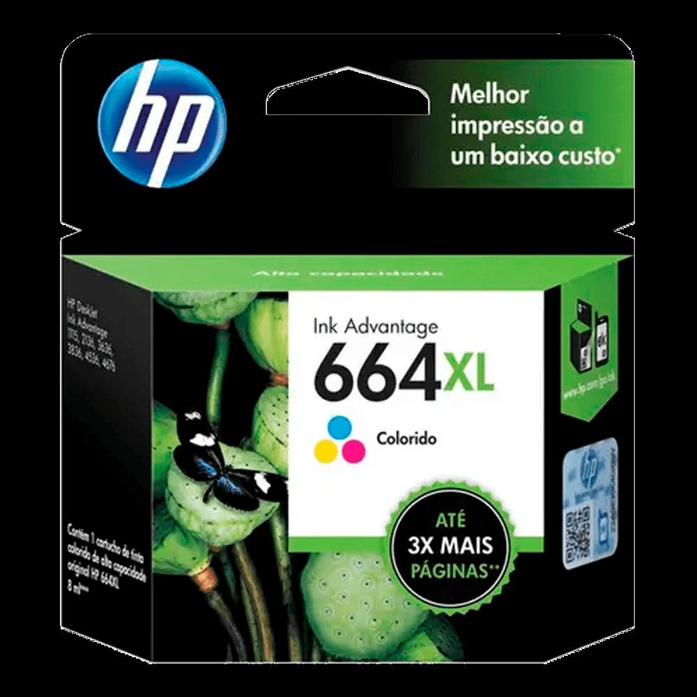 Cartucho de Tinta HP 664 XL Tricolor F6V30AB