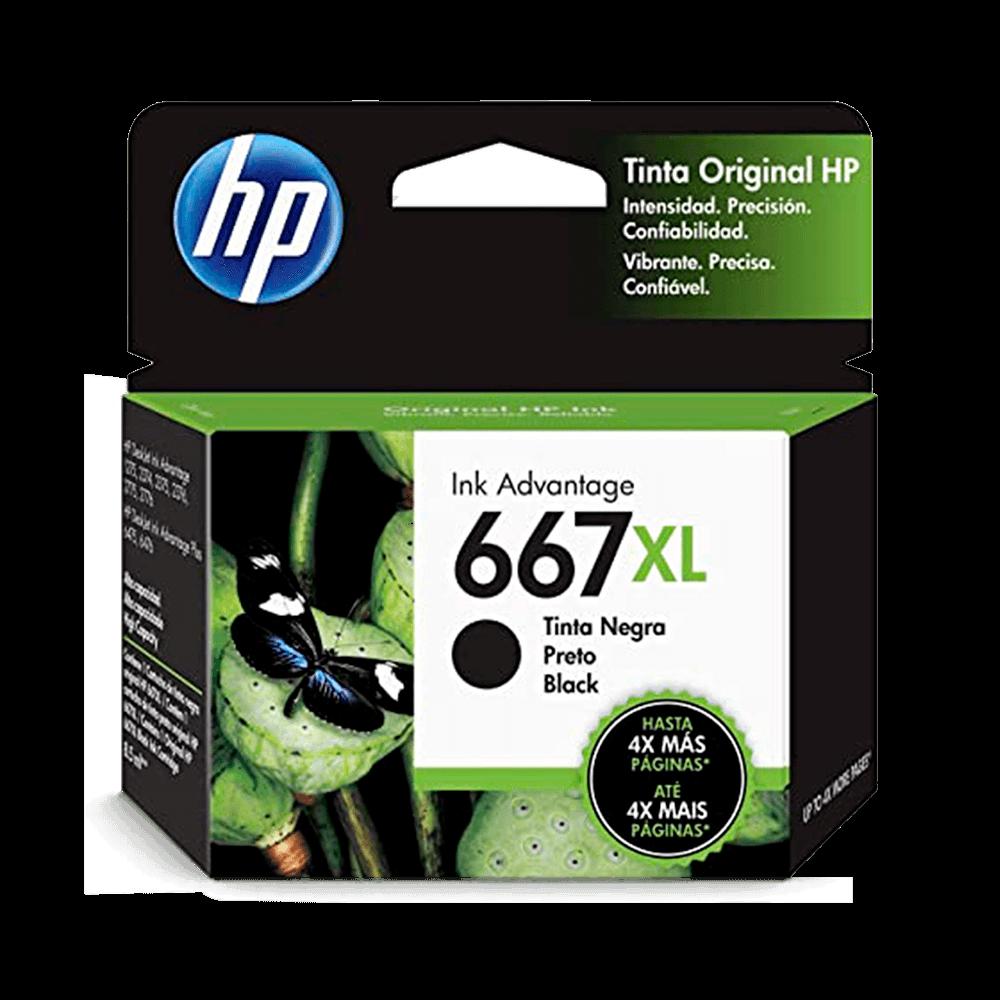 Cartucho de Tinta HP 667XL Preto Advantage de Alto Rendimento Original - 3YM81AL