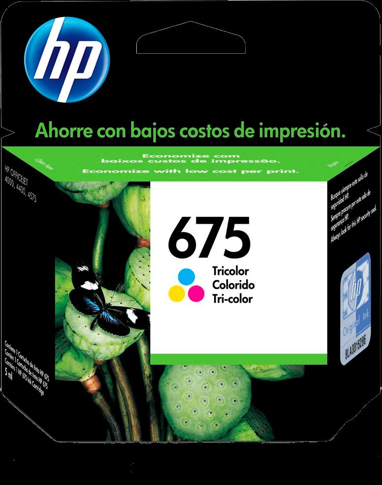 Cartucho de Tinta HP 675 Colorido - Original