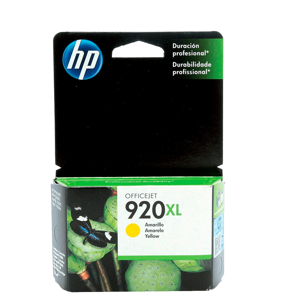 Cartucho HP 920 XL Amarelo Original - CD974AL