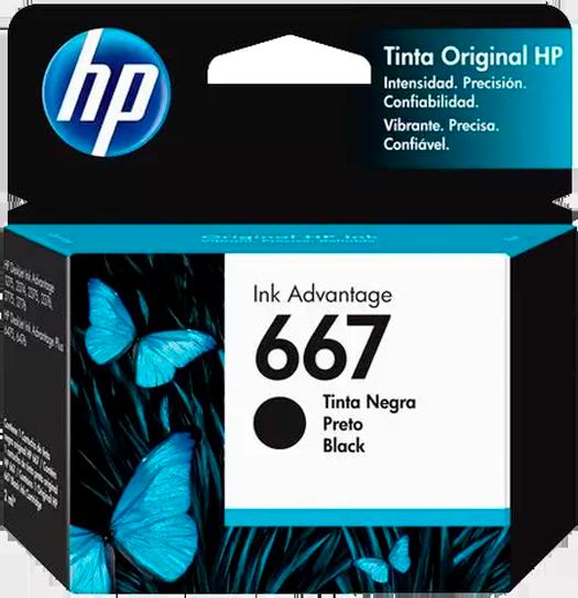 Cartucho de Tinta HP Ink Advantage 667 - Preto