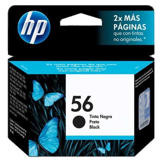Cartucho de tinta preto HP 56 original - C6656AB