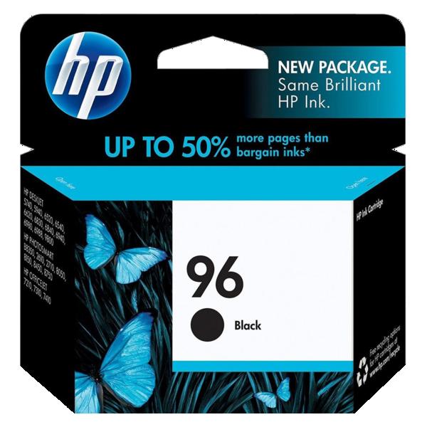 Cartucho de tinta preto HP 96 original - C8767WB