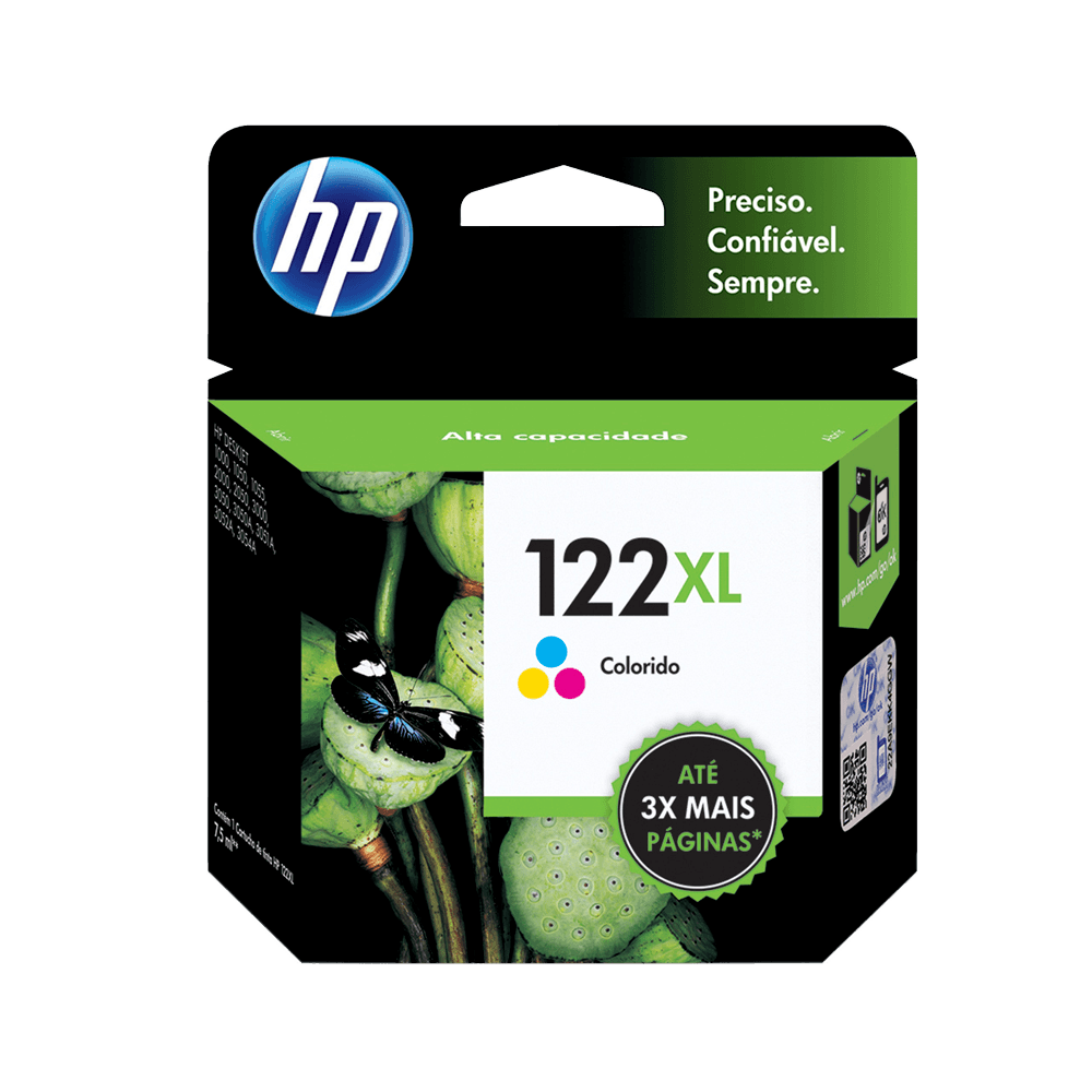 Cartucho HP 122 XL Colorido Original  - CH564HB