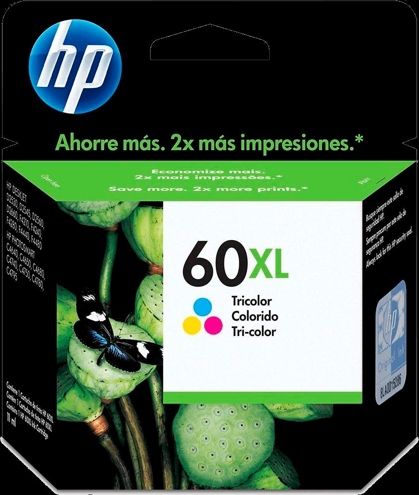 Cartucho HP 60XL Colorido Original CC644WB