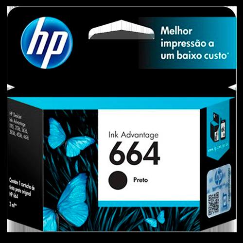 Cartucho HP 664, Preto - F6V29AB