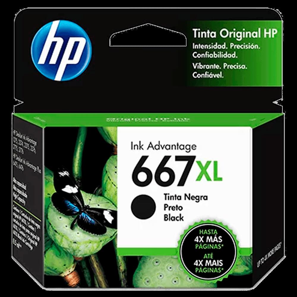 Cartucho HP 667XL preto - 3YM81AL