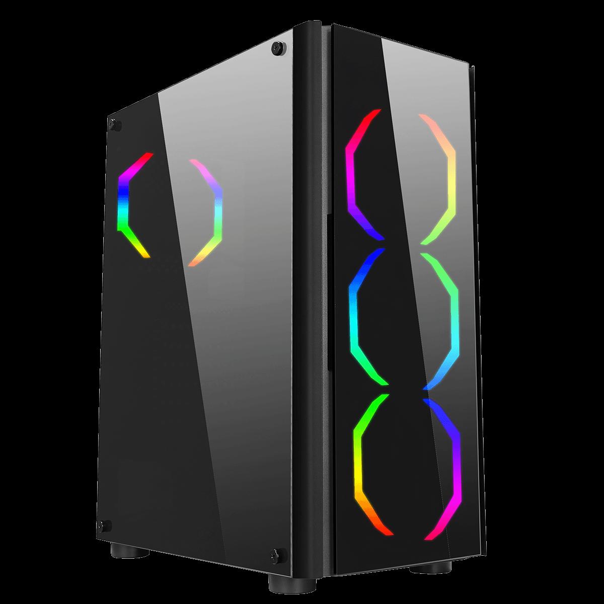 Computador Gamer Infohard AMD Ryzen 3 2200G, 8GB DDR4, 500GB SSD, GTX1030 2GB, 550W, B450M - 635887