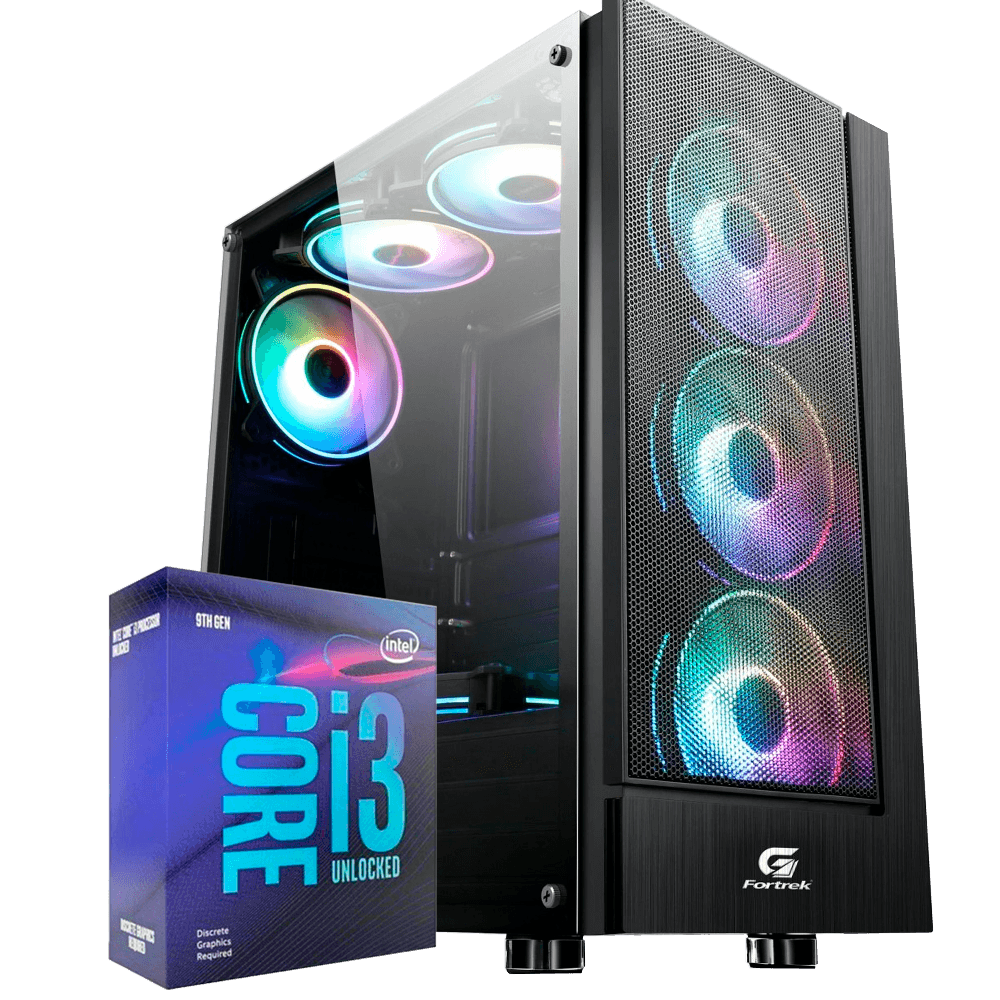 Computador Gamer Infohard Intel I39100F, 8GB DDR4, 1TB HD, GTX1050 4GB, 500W, H310CM  - 634864