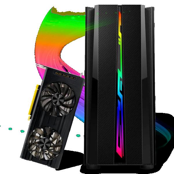Computador Gamer Infohard Intel I7-10700F, 16 GB DDR4, 480 GB SSD, RTX 3060 12GB, 600W, Z490 - 635368