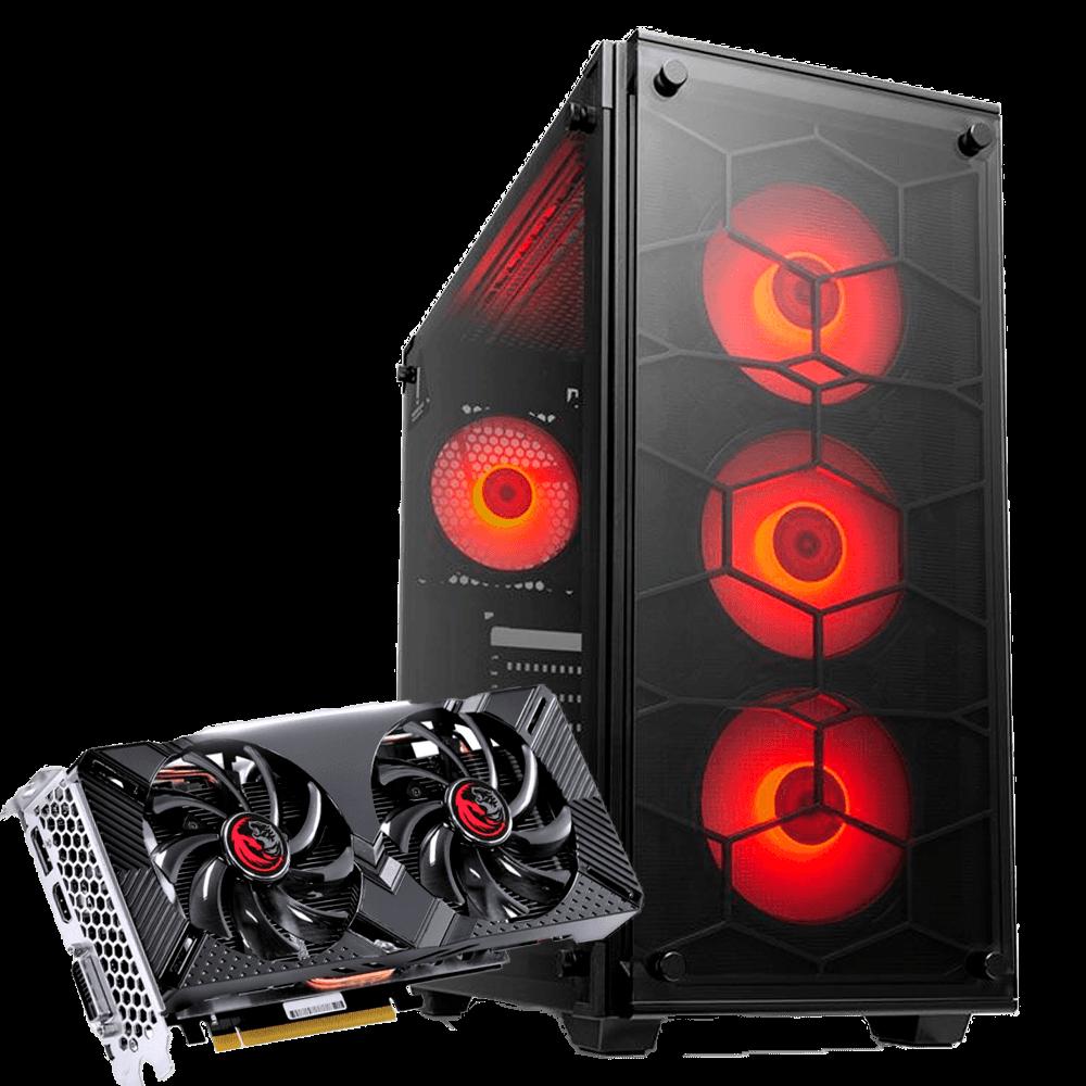 Computador Gamer Infohard Ryzen 5 3400G, 8GB DDR4, 240GB SSD+1TB HD, GTX1660 6GB, 500W, A320M-S2H - 634749