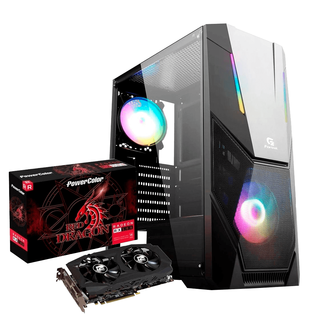 Computador Gamer Infohard Ryzen 5, 8GB DDR4, 240GB SSD, RX-580 8GB, 500W, A320M-S2H - 634766