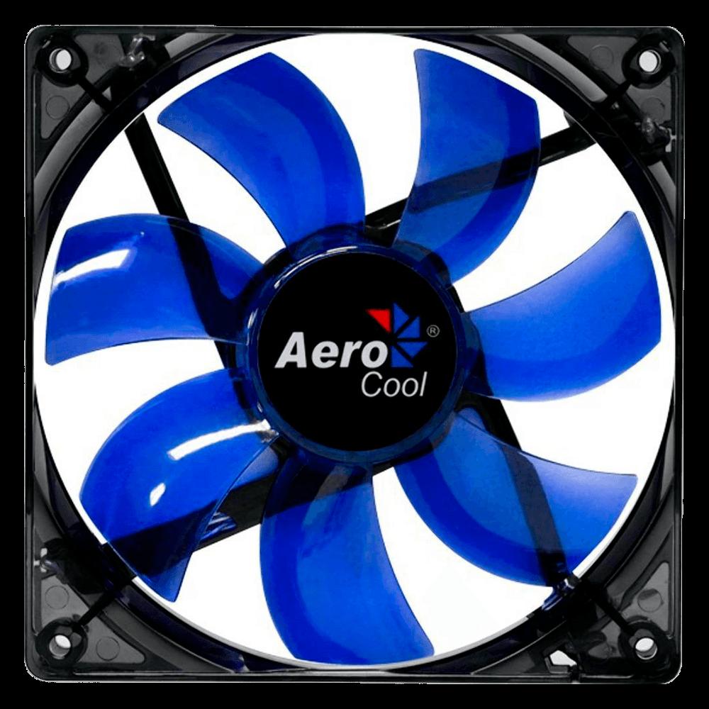 Cooler FAN AeroCool Lightning 12cm BL LED EN51394
