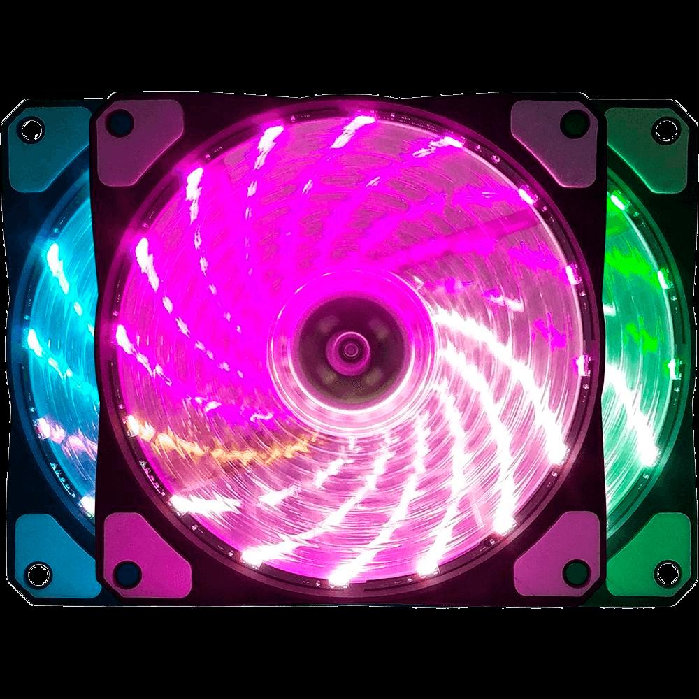 Cooler Fan Bluecase BF-08RGB, RGB por Controlador, 12cm - BF08RGBCASE