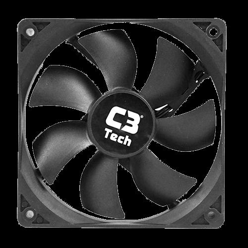 Cooler FAN C3 Tech Storm 12cm C3T -  F7-100 BK