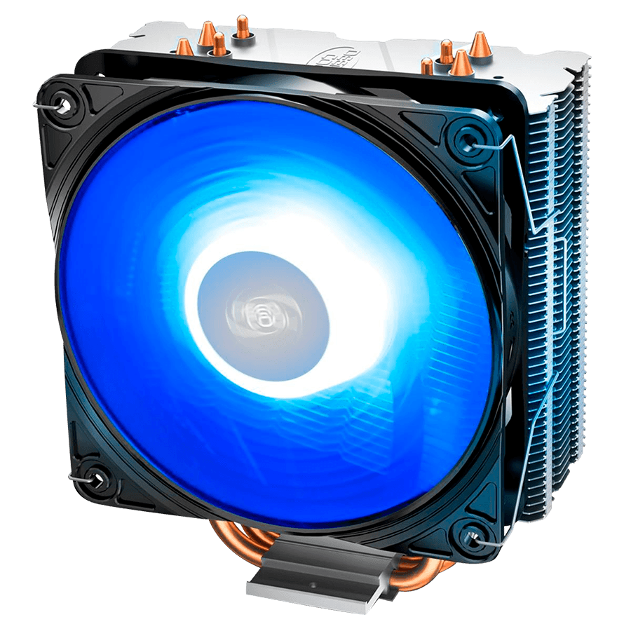 Cooler FAN DeepCool Gammaxx 400 V2, 120mm, LED Azul, Branco - DP-MCH4-GMX400V2-BL