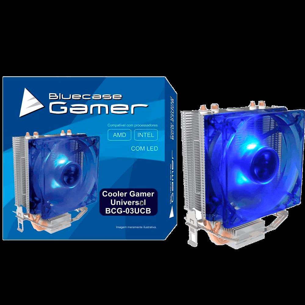 Cooler Universal Intel e AMD Bluecase, Gamer / BCG-03UCB