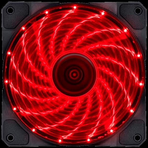 Cooler VX Gaming V.Lumi 15 pontos de LED 120mm - 29562 Vermelho
