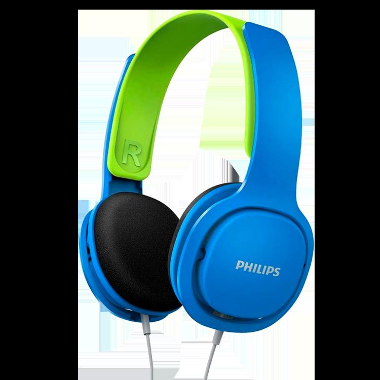 Fone de Ouvido Kids PHILIPS Azul/Verde - SHK2000BL/00