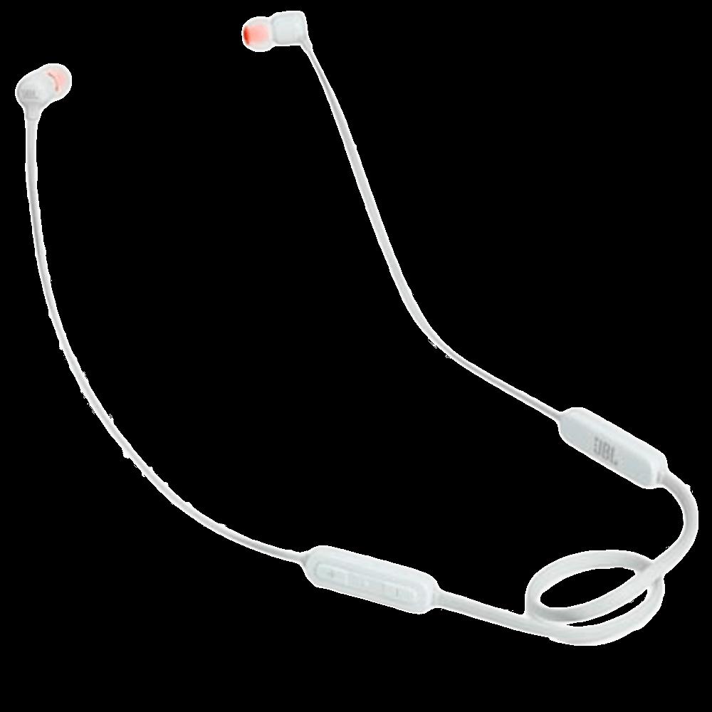 Fone de Ouvido sem Fio JBL Intra-Auricular Branco - JBLT110BTWHT
