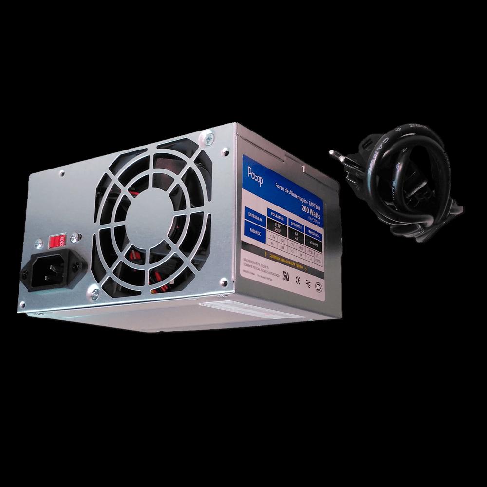 Fonte ATX 200W PCTOP FPA200C - Com cabo de forca