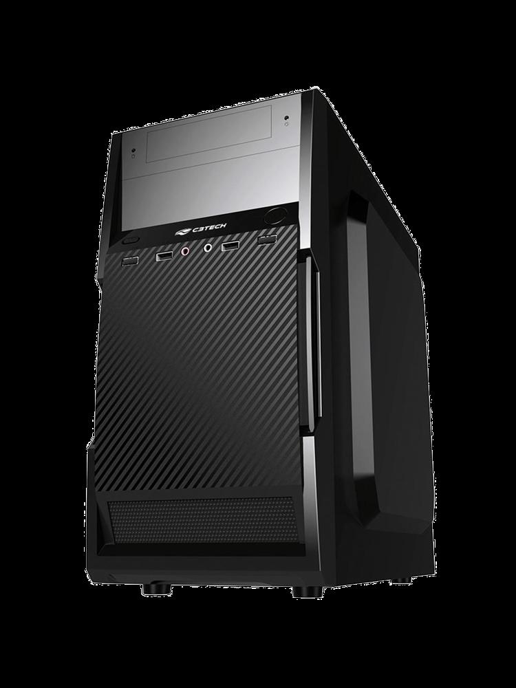 Gabinete C3 Tech com Fonte 200W, Micro-ATX, Preto - MT-25BK