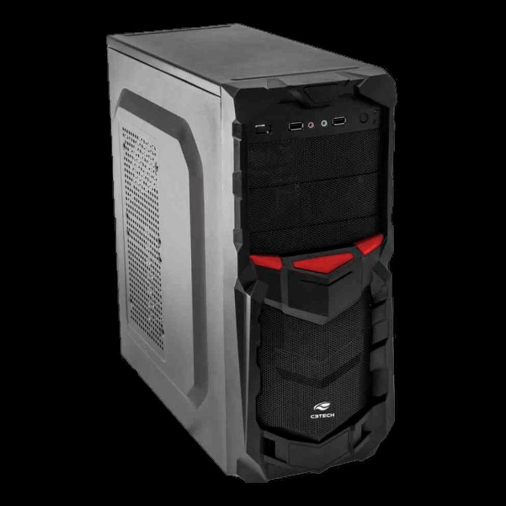 Gabinete C3Tech Gamer ATX, Preto MT-G50BK