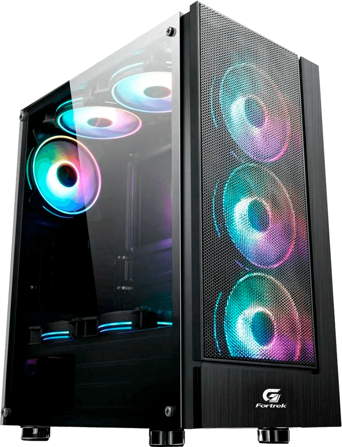Gabinete Gamer Fortrek Mid Tower RGB Cruiser