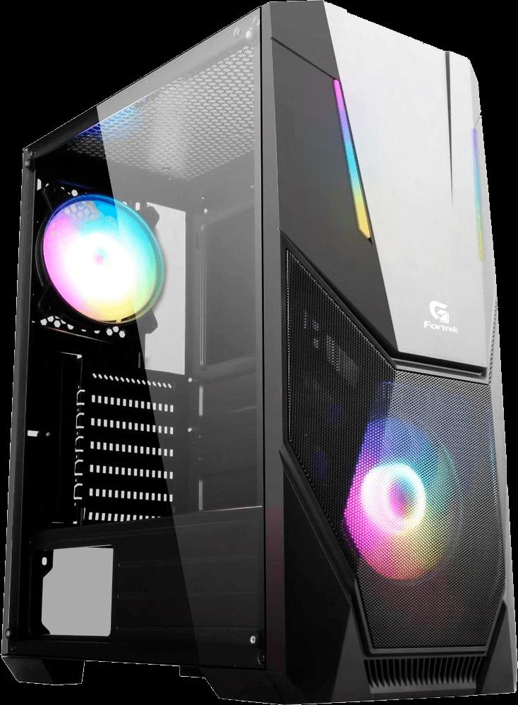 Gabinete Gamer Mid Tower BLACK HAWK RGB FORTREK