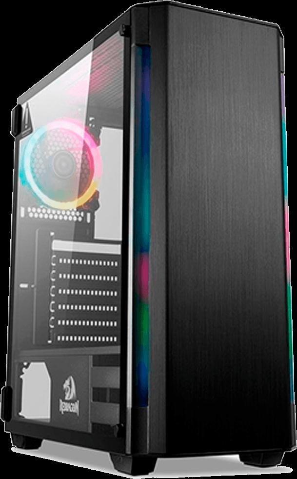 Gabinete Gamer Redragon Nosecone - Janela Lateral em Vidro Temperado - Mid Tower - GC-909
