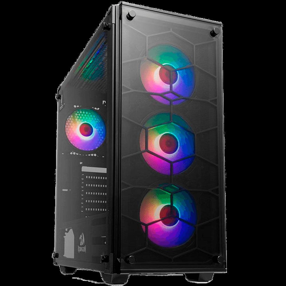 Gabinete Gamer Redragon Wheeljack Preto LED RGB, GC-606BK-RGB