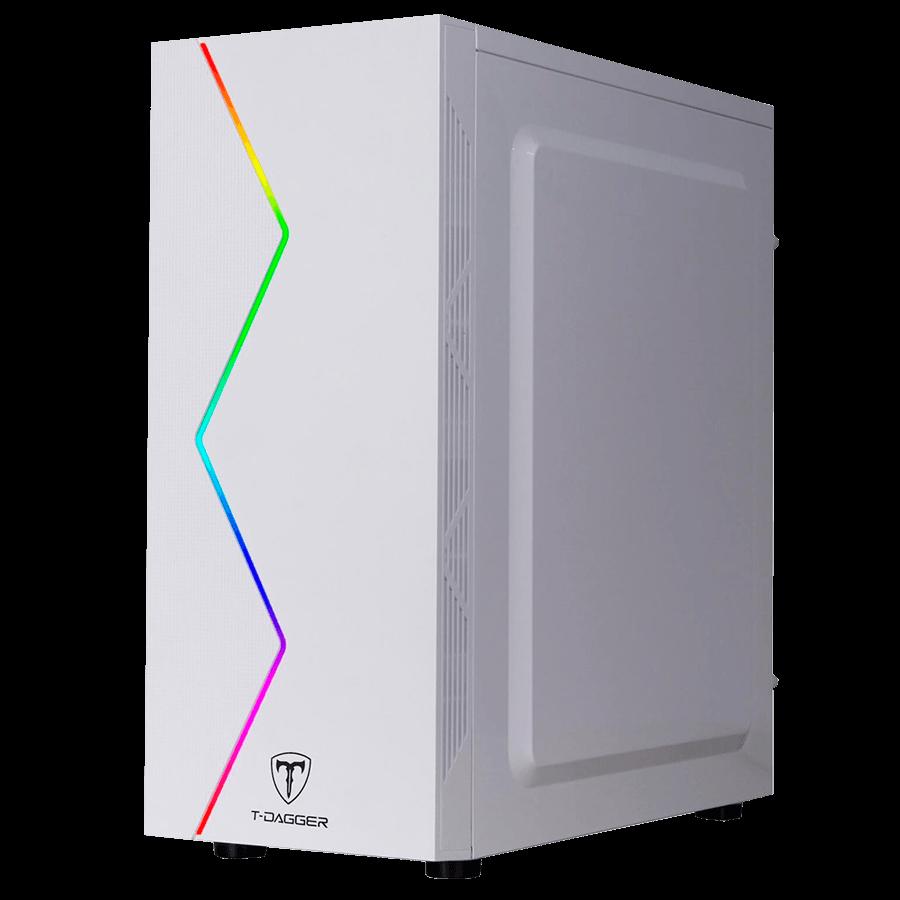 Gabinete Gamer T-Dagger TGC-P03W - Lateral em Acrílico - Frontal RGB - USB 3.0 - Branco