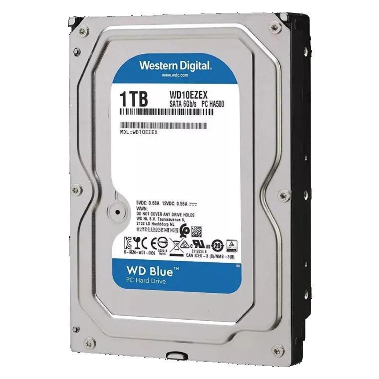 HD WD SATA 3,5´ Blue PC 1TB 7200RPM 64MB Cache SATA 6.0Gb/s - WD10EZEX