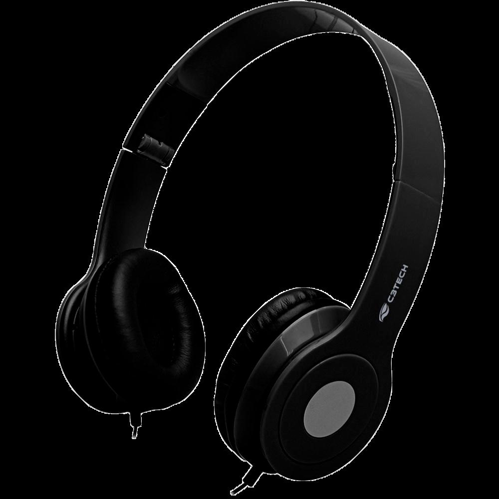 Headphone C3 Tech Dobrável, Preto - PH-100BK
