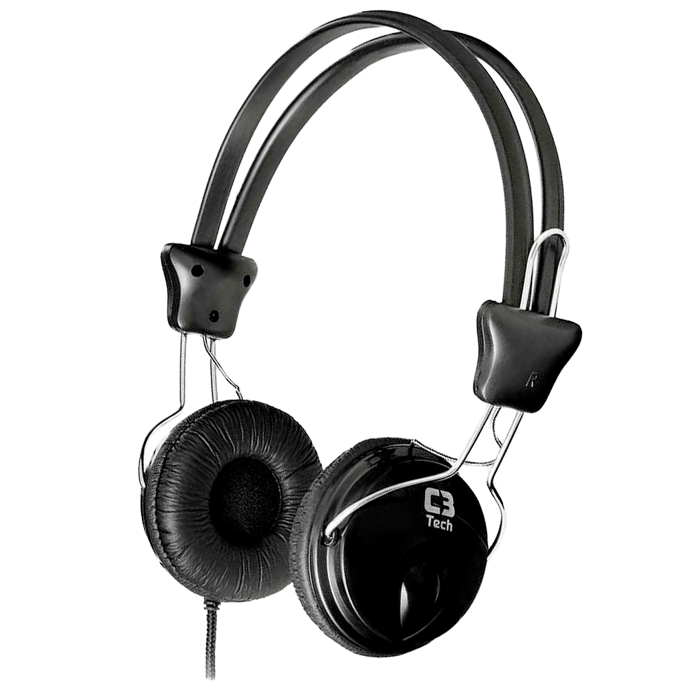 Headphone C3 Tech Tricerix c/ Microfone Preto - MI-2280ERCV3