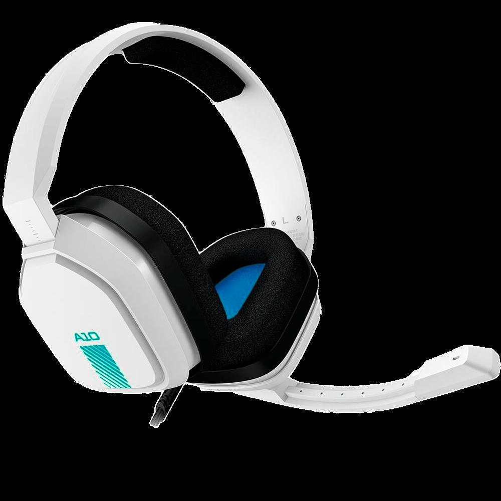 Headset ASTRO Gaming A10 para PlayStation, Nintendo Switch, PC e Xbox - Branco/Azul