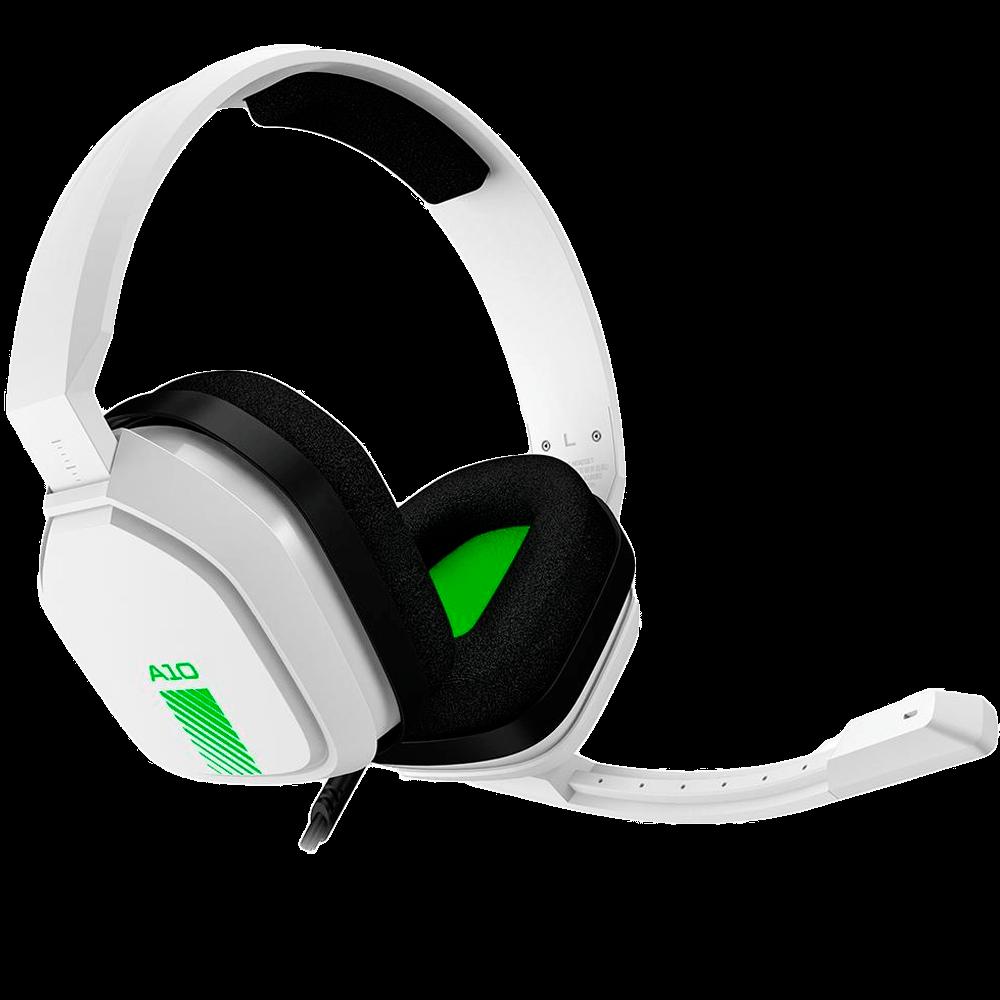 Headset ASTRO Gaming A10 para PlayStation, Nintendo Switch, PC e Xbox - Branco/Verde