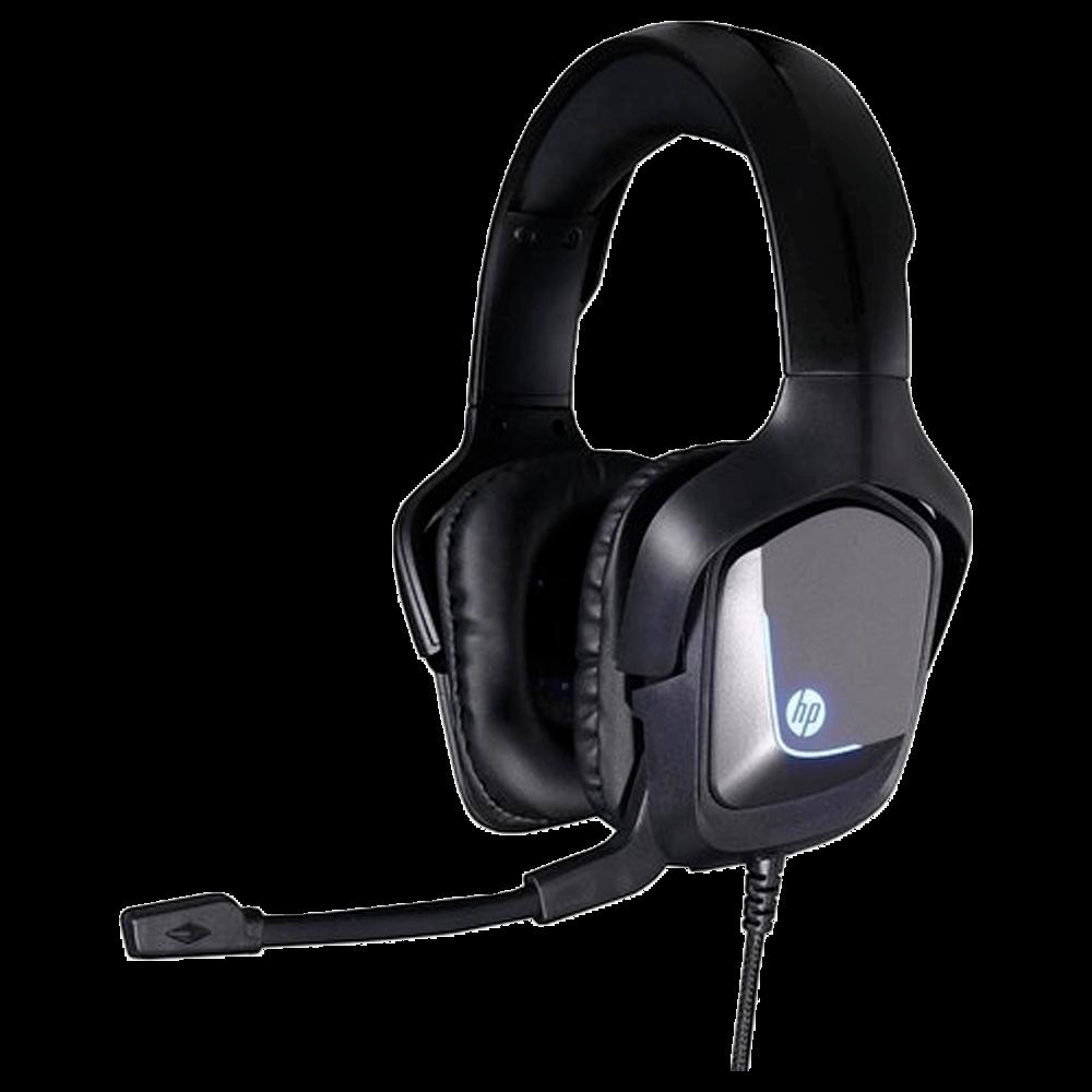 Headset Gamer Hp Gaming H220 Preto Led Blue Usb Estéreo - 8AA11AA#ABM