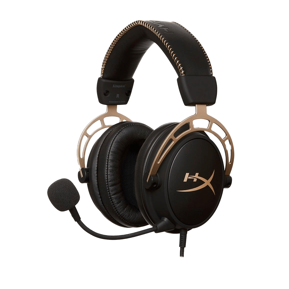 Headset Gamer HyperX Cloud Alpha Gold, - HX-HSCA-GD/NAP