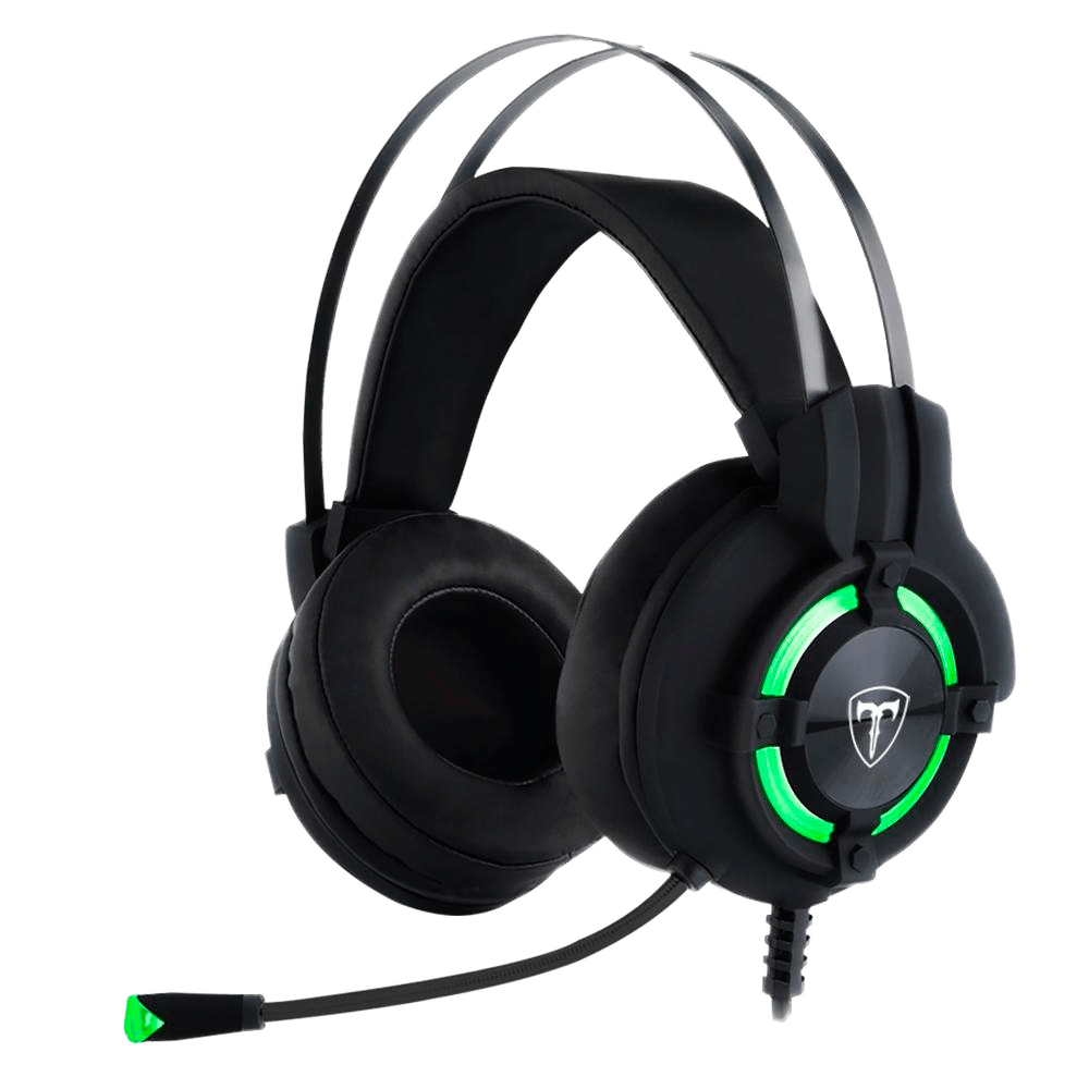 Headset Gamer T-Dagger Andes, Drivers 40mm, Preto e Verde - T-RGH300